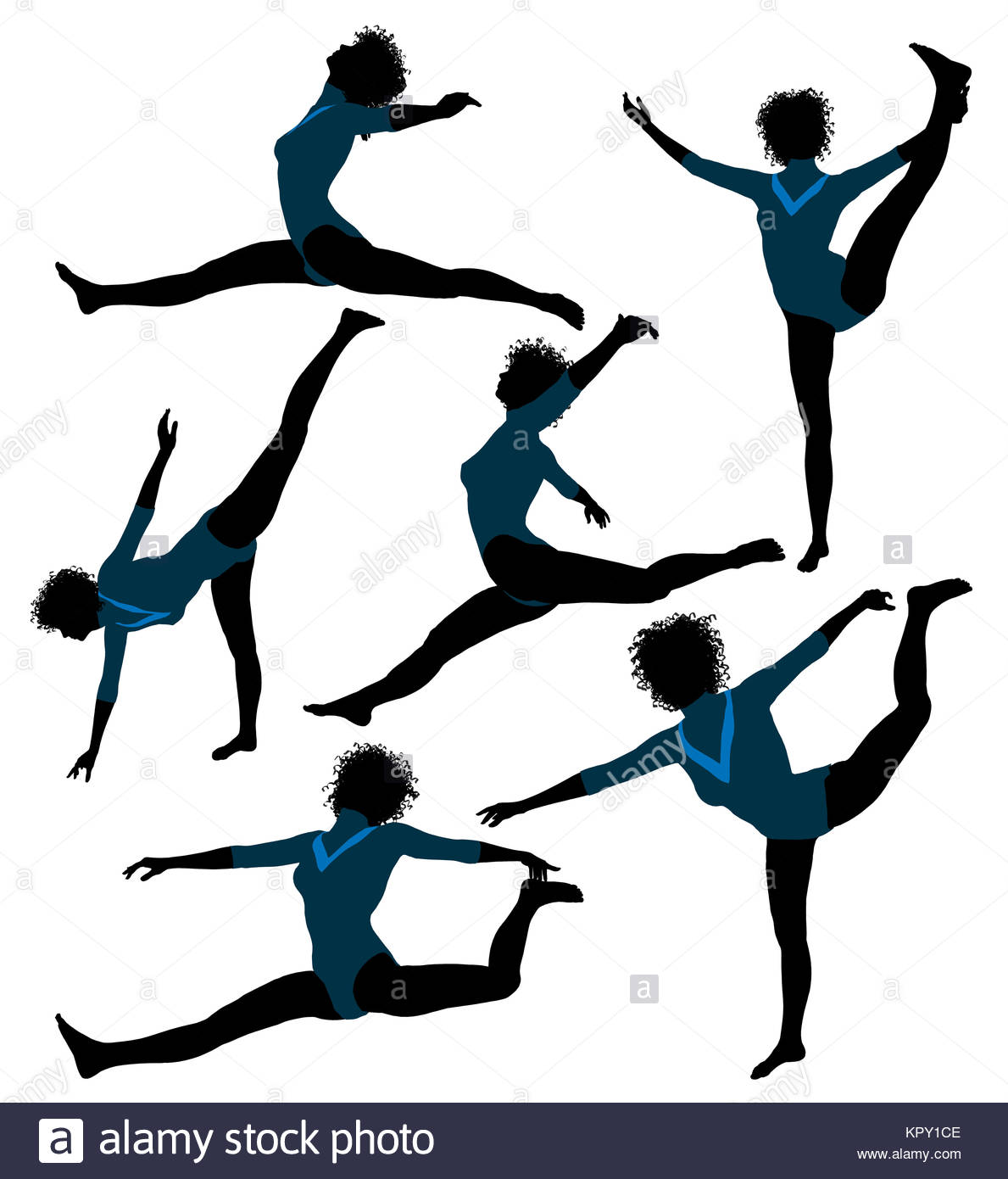 1189x1390 Femalefricanmerican Gymnastrt Illustration Silhouette On