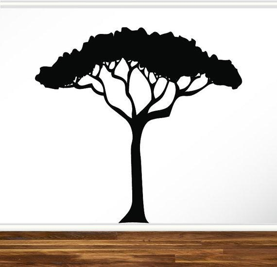 570x550 African Safari Tree Wall Decal Nursery Baby Kids Living Room
