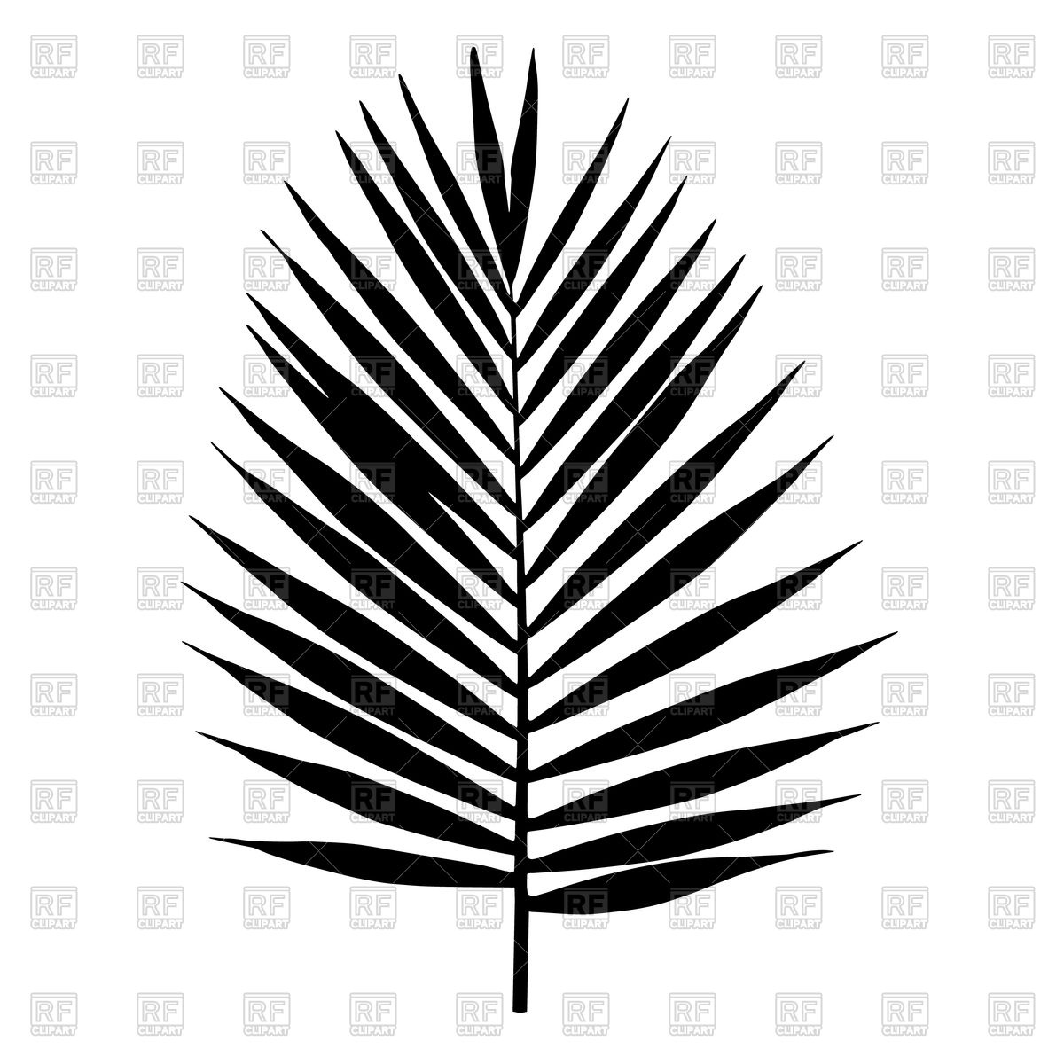 1200x1200 Silhouette Of Palm Leaf Royalty Free Vector Clip Art Image
