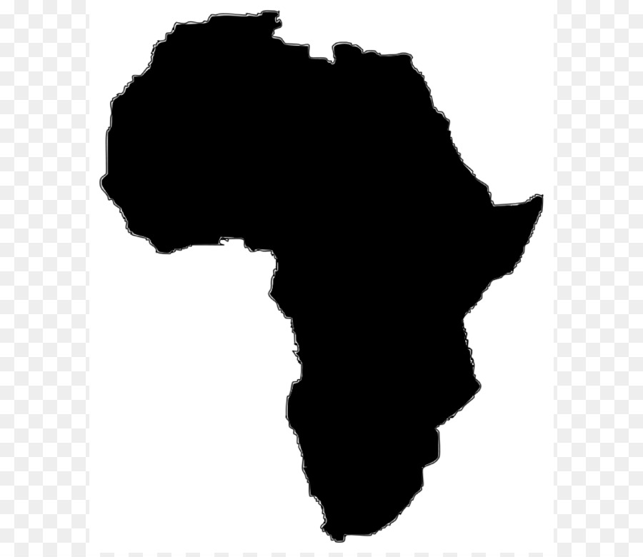 900x780 Africa Vector Map Clip Art