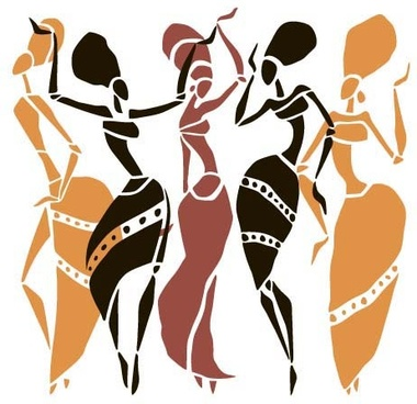 380x368 African Woman Silhouette Vector Free Vector Download (7,476 Free