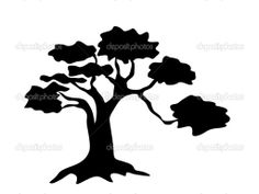 236x177 Tree Silhouette African Tree Silhouette