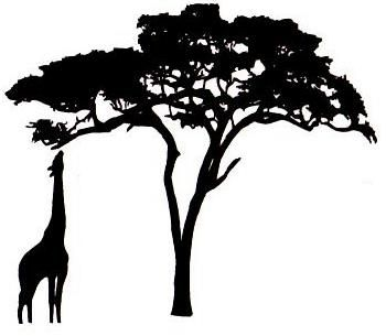 350x305frican Textile Circle Giraffempcacia Silhouette To Paint On