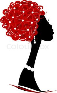 African Woman Head Silhouette