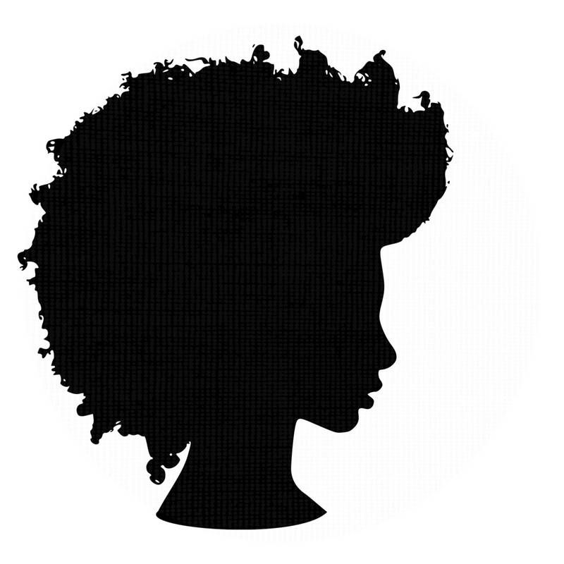 800x800 Afro Silhouette Svg Clip Art Natural Nappy Hair Png Files African