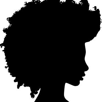 360x360 Afro Girl Silhouette Tri Blend T Shirt By Paperflodesigns Redbubble