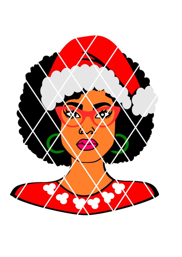 724x1024 Mrs Claus Svg, Afro Santa Svg, Afro Lady Svg,kenya Lady