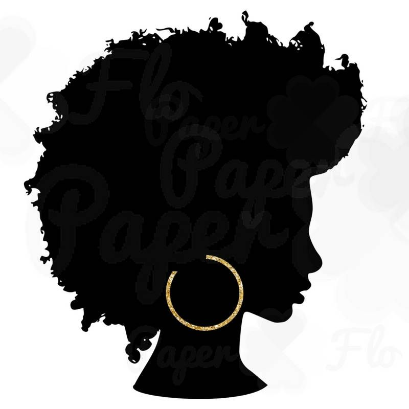 800x800 Afro Silhouette Png Gold Hoops Clip Art Black Natural Hair Png