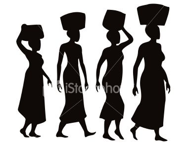 380x294 Afro Black And White Clipart Silhouette