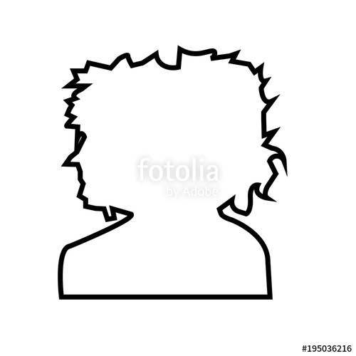 500x500 Afro Silhouette Imagesoutline On White Background Stock Image