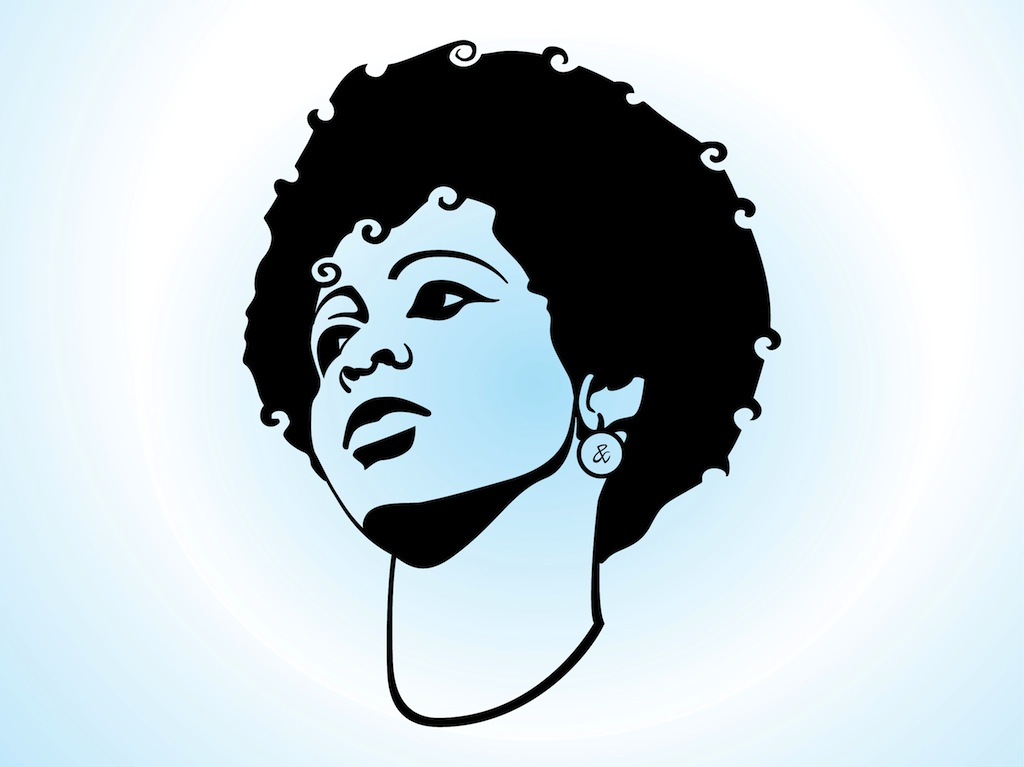 1024x767 Afro Silhouette Clip Art
