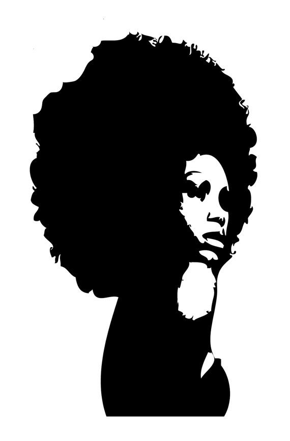 570x867 Afro Clipart Collection