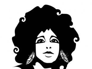 310x233 Afro Hair Girl Free Vector Free Vectors Ui Download