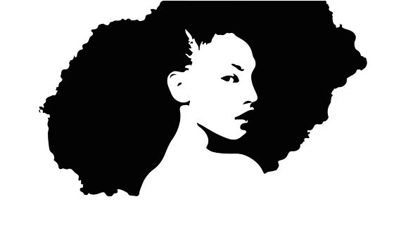 570x321 Afro Svg, Afro Lady Haircut Svg, Afro Lady Silhouette, Afro Vector