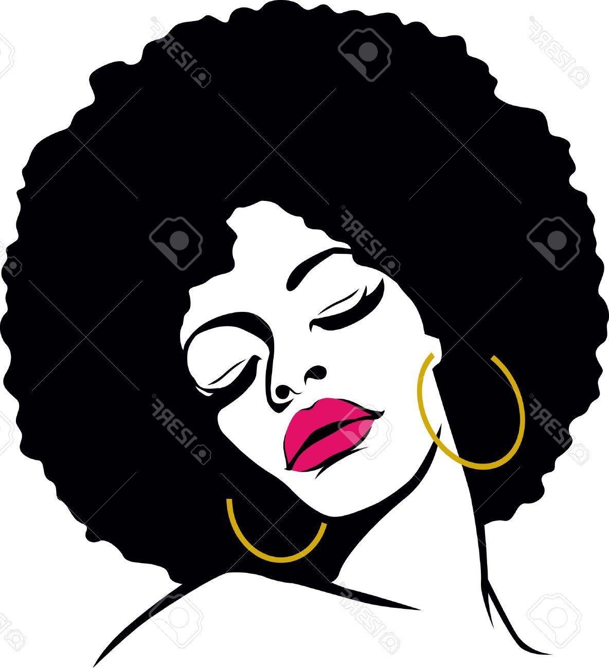 1184x1300 Best 15 Afro Hair Hippie Woman Pop Art Stock Vector African