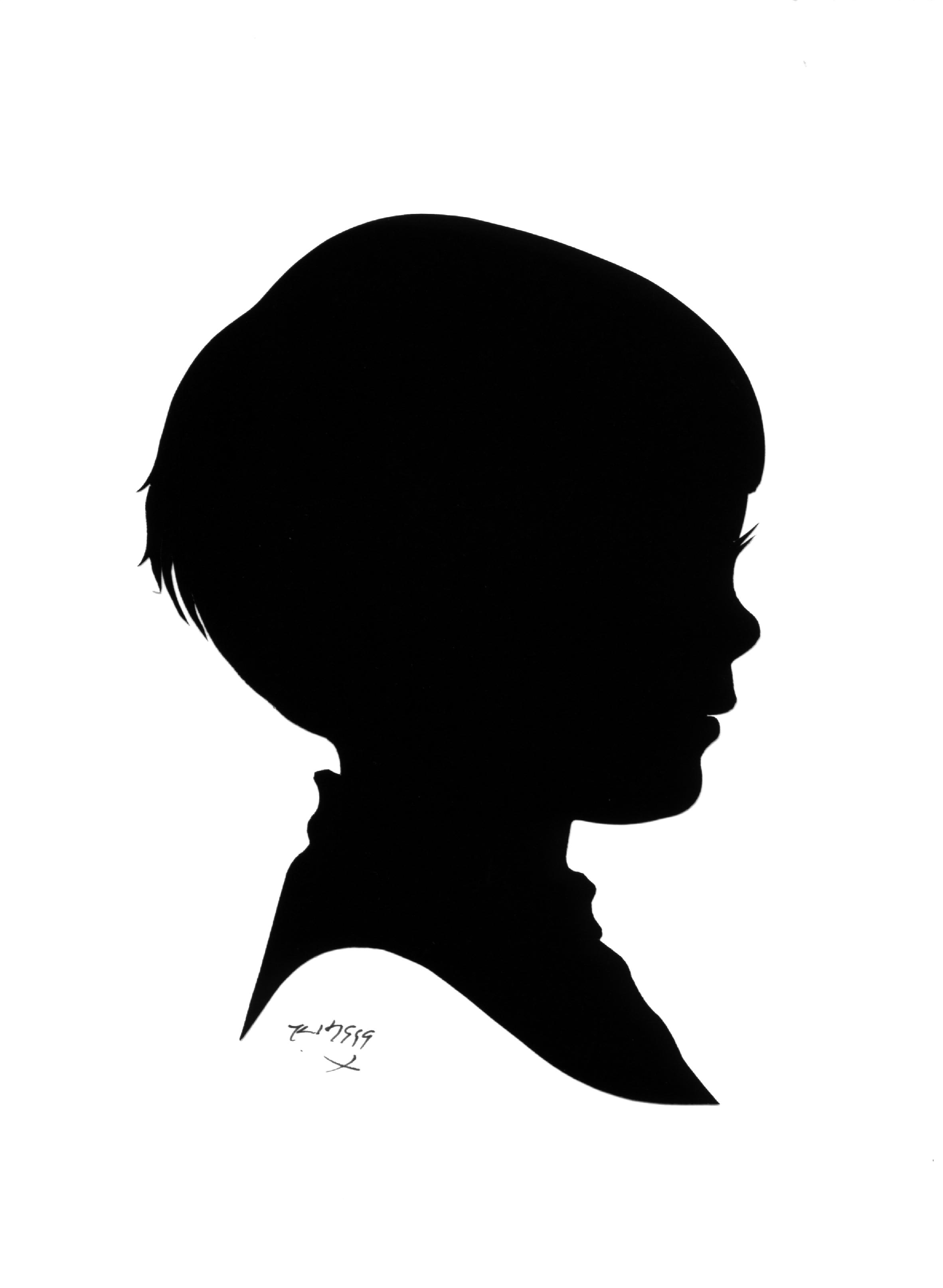 2363x3228 Boy S Face Silhouette Clipart