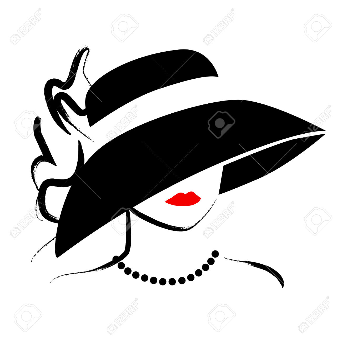 1300x1300 Drawn Top Hat Silhouette