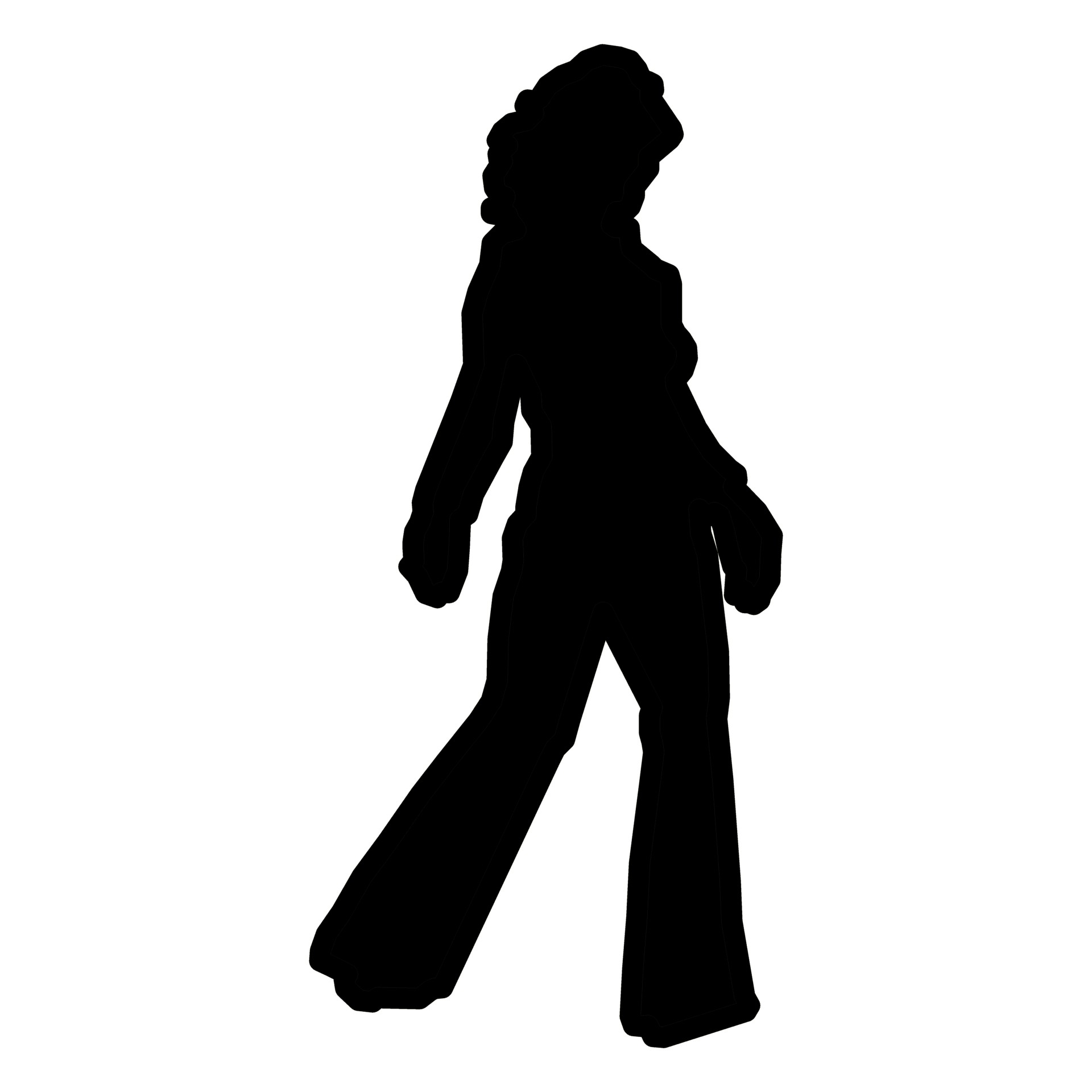 1920x1920 Woman Silhouette Ii Free Stock Photo
