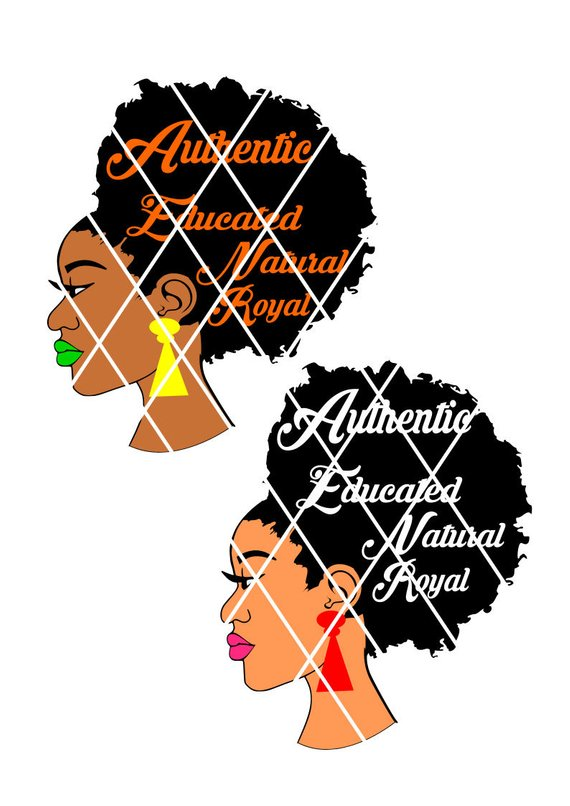 570x806 Afro Lady Svg,fro,silhouette Cameo Cutting File Cut, African