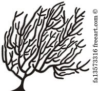 193x179 Free Art Print Of Agave Plant Silhouette. Agave Americana Century