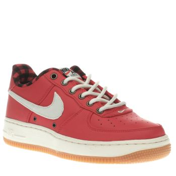 350x350 Nike Red Air Force 1 Lv8 Boys Youth Keep Your Stylish Little One