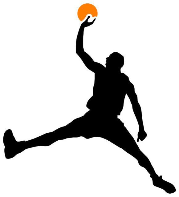 581x640 Air Jordan Basketball Stencil