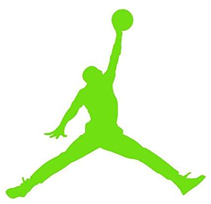 425x410 Air Jordan Nike Jumpman Logo Vinyl Sticker Decal Lime