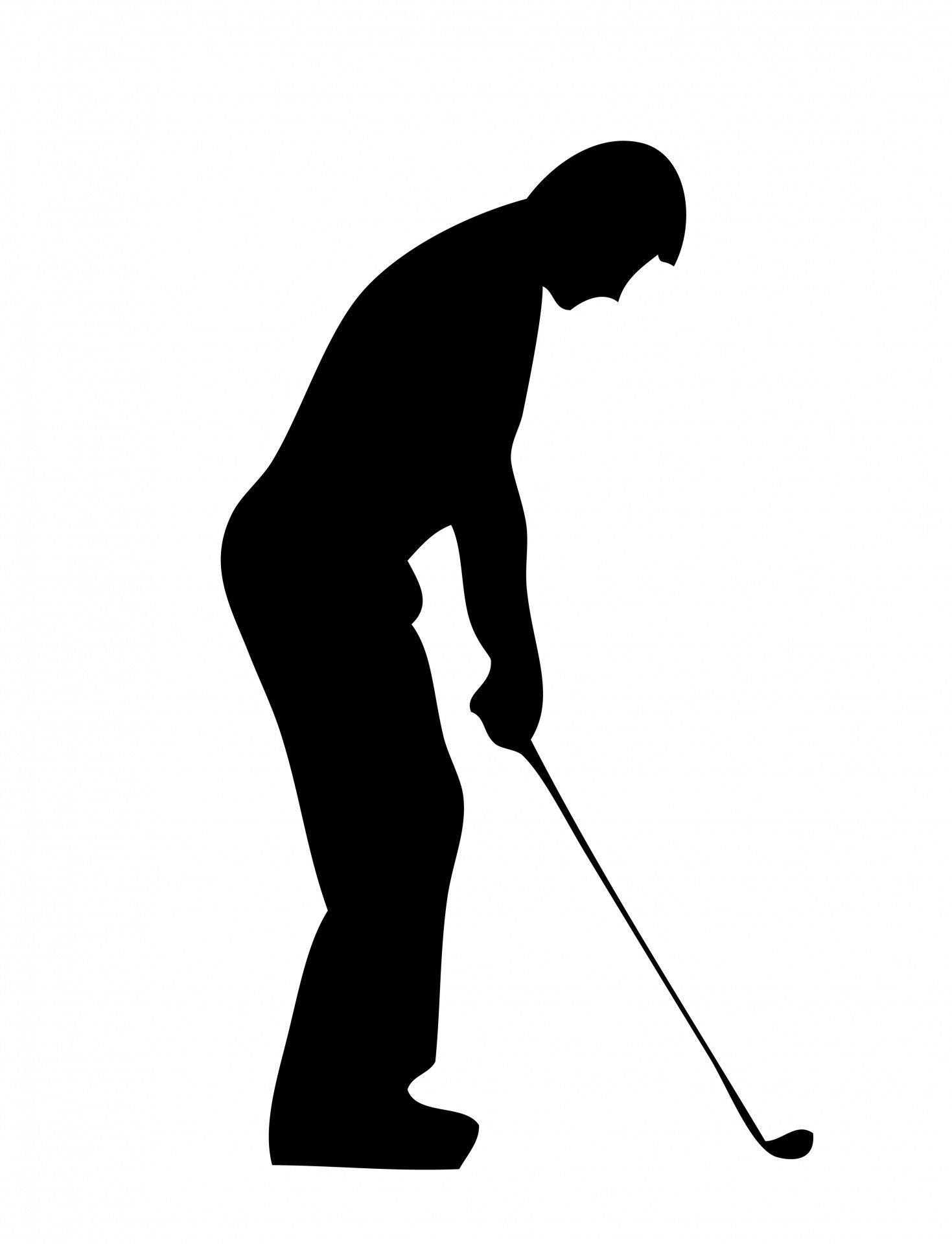 1469x1920 Golf Player Silhouette Clipart Cricut Explore Air