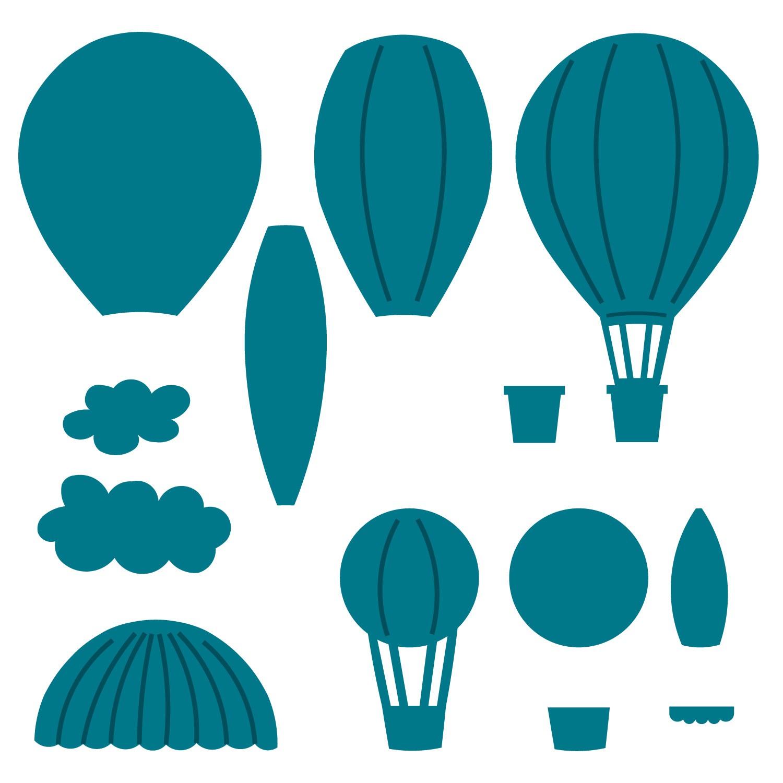 1500x1500 Hot Air Balloons Shapes Paper Chase Balloon Shapes