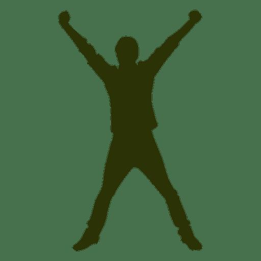 512x512 Man Jumping Air Silhouette 3