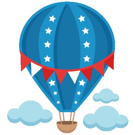 432x432 Patriotic Hot Air Balloon Svg Scrapbook Cut File Cute Clipart