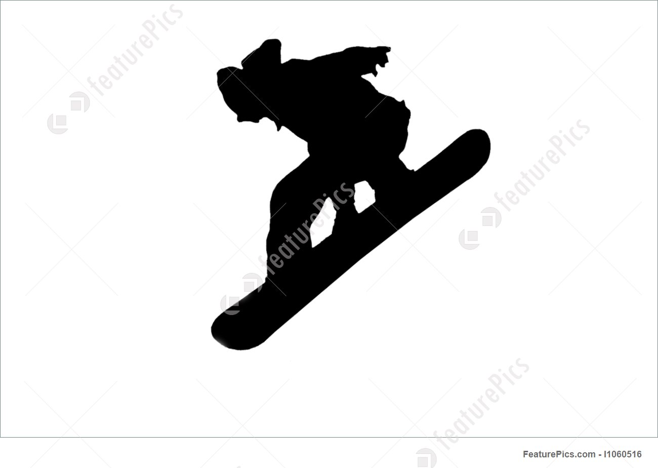 1300x924 Silhouette Of A Snowboarder Jumping High In The Air Photo