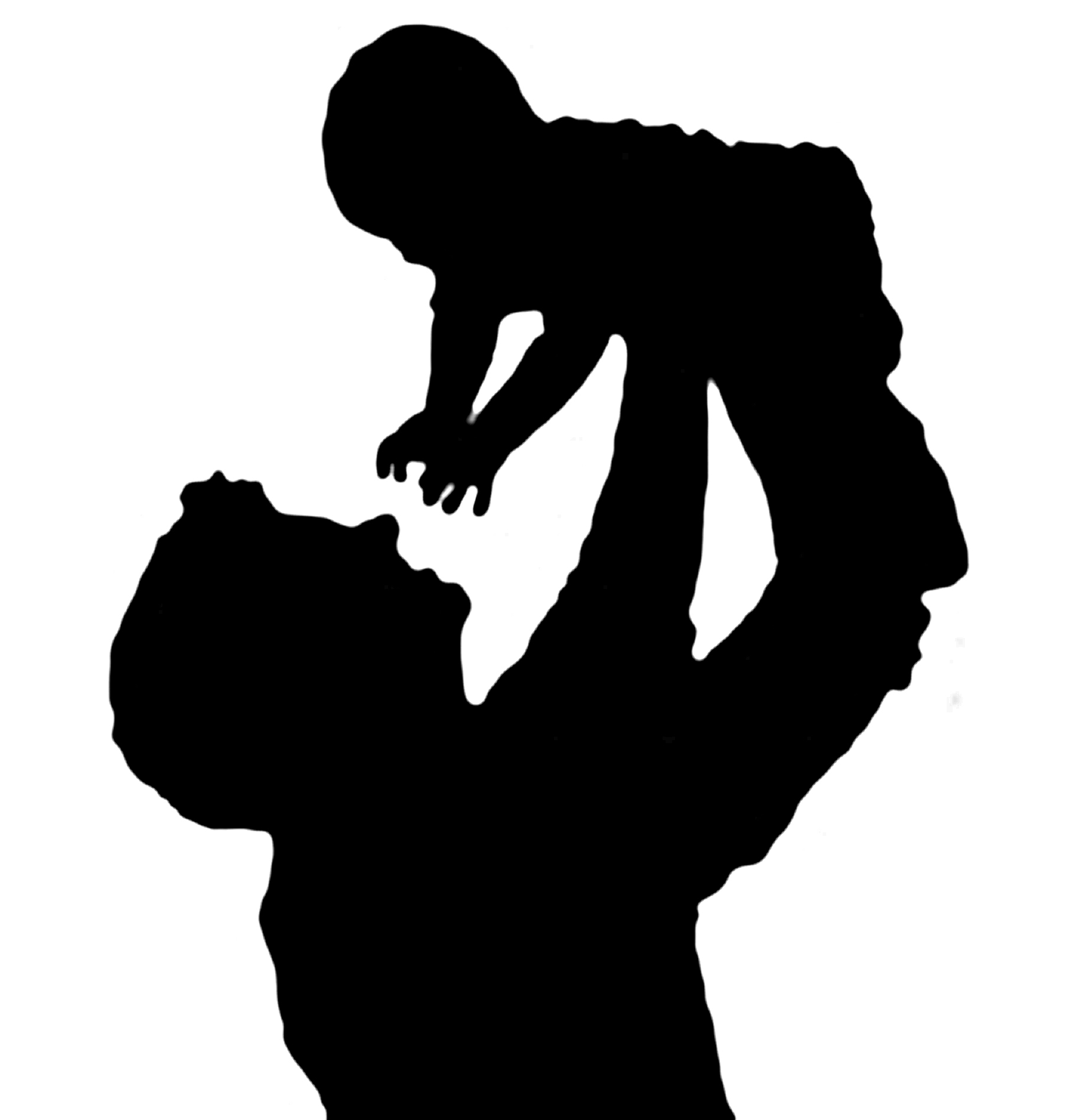 1805x1896 Silhouette Of A Father Holding His Child Art