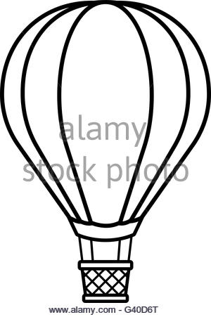 300x451 Sketch Silhouette Set Flying Balloons And Serpentine Stock Vector
