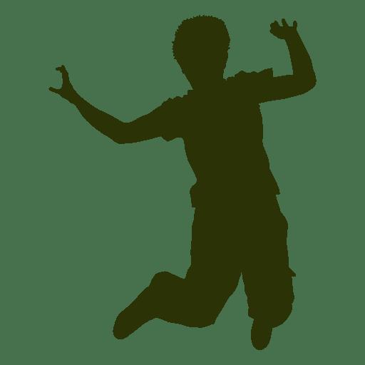 512x512 Boy Jumping Air Silhouette