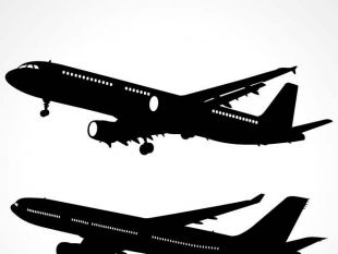 310x233 Airplane Silhouette Vector Free Vectors Ui Download