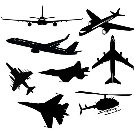 570x550 Airplane Svg Clipart Silhouette