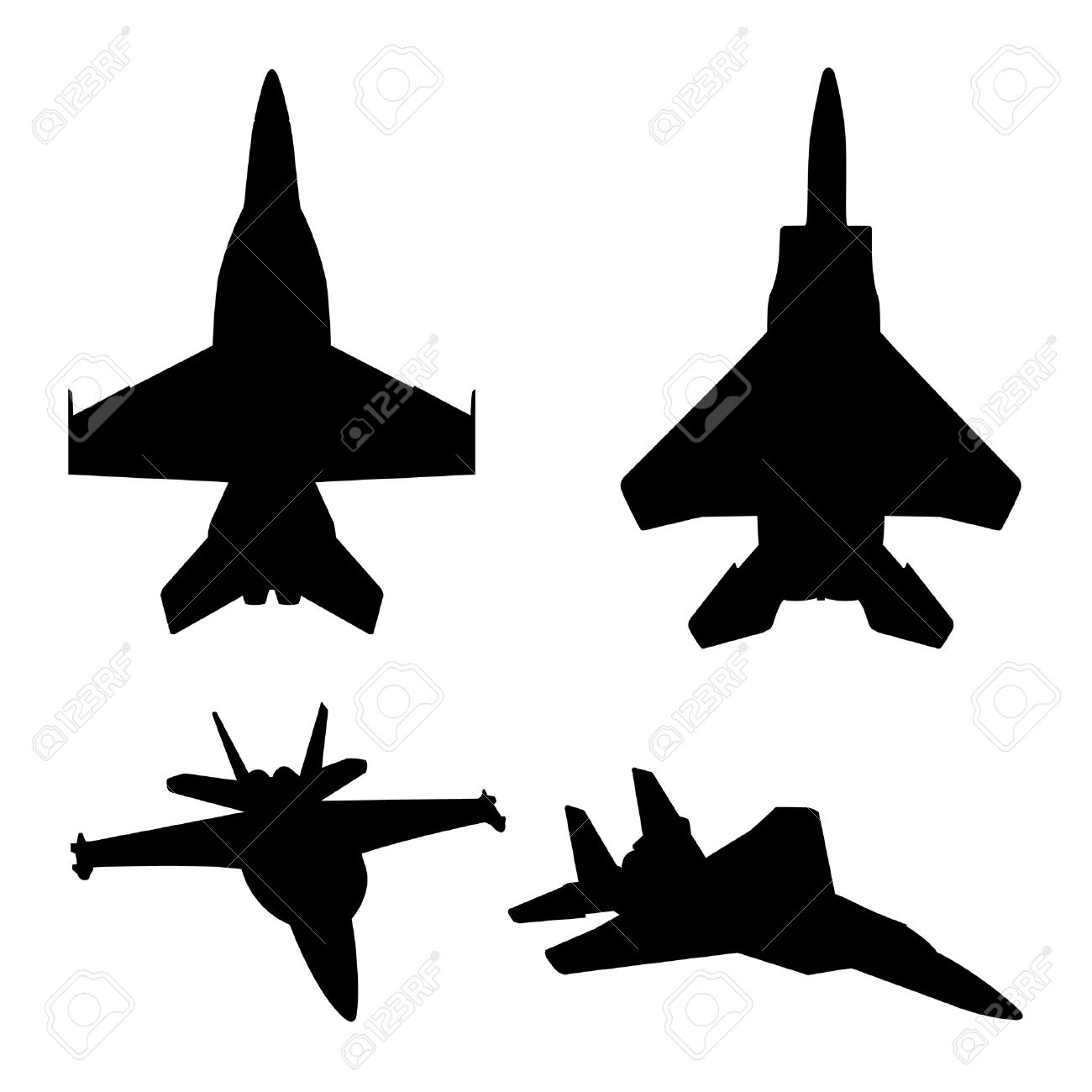 1300x1300 Jet Fighter Clipart Silhouette