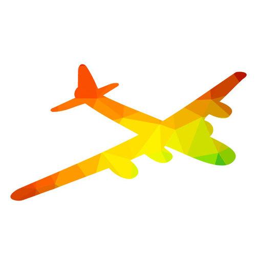 500x500 Military Aircraft Silhouette Public Domain Vectors