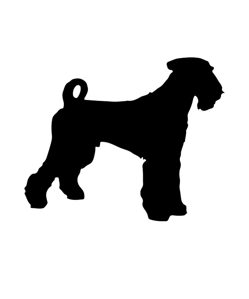 833x1000 Airedale Terrier Silhouette By Uptownmatt91 Redbubble