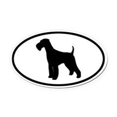 236x236 Airedale Terrier Silhouette Business Card Airedale Terrier