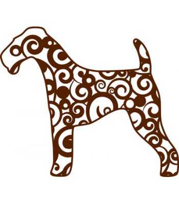 350x400 Airedale Terrier Silhouette