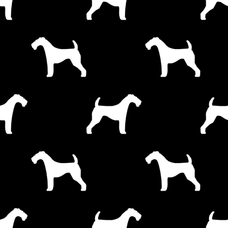 470x470 Airedale Terrier Silhouette Dog Fabric Black Wallpaper