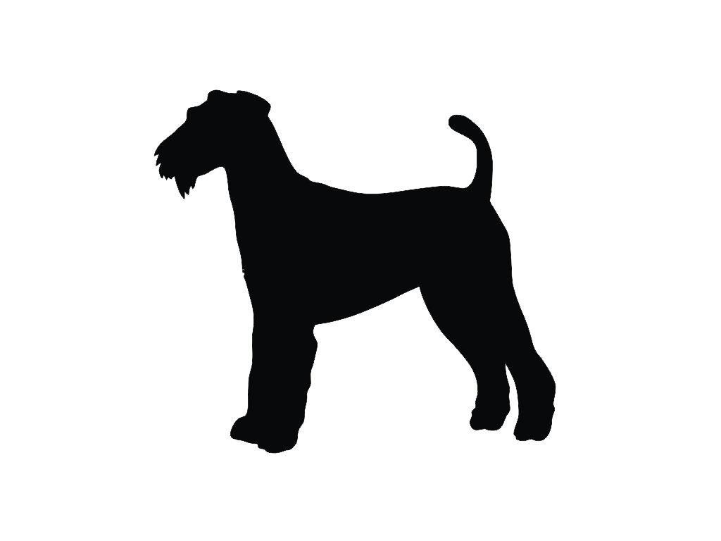 1024x768 Airedale Terrier V2 Dog Silhouette Custom Die Cut Vinyl Decal