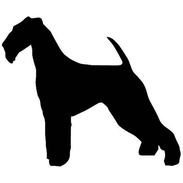 640x640 11.39.5cm Airedale Terrier Dog Car Stickers Decals Funny Car