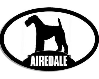 340x270 Airedale Silhouette Etsy