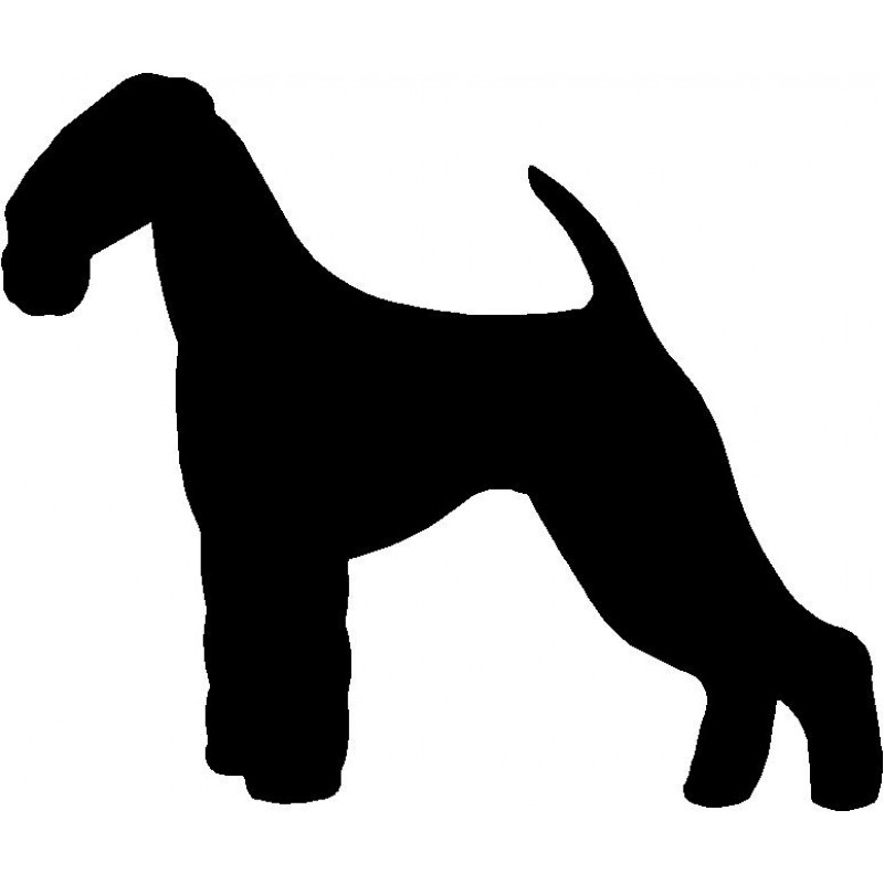 800x800 Dog Breed Silhouette Wall Hanging Magnetic Memo Airedale Terrier