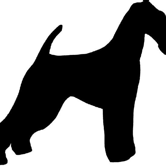 550x550 Airedale Terrier Silhouette Airedale Terrier Terrier