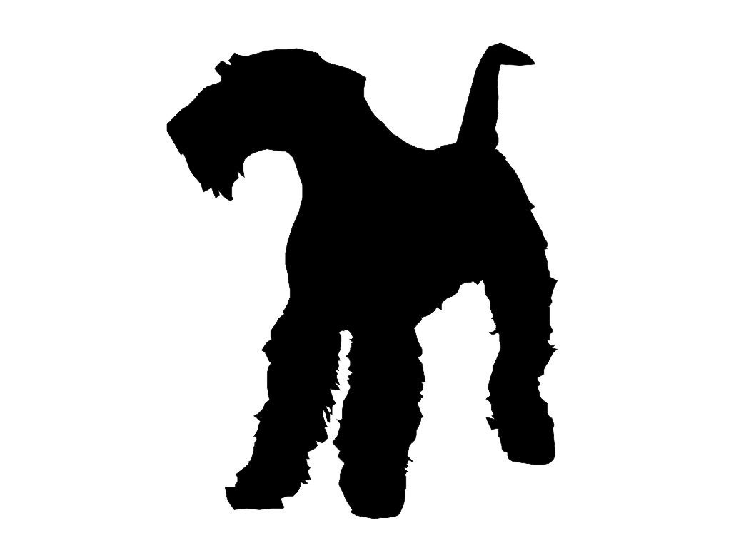 1024x768 Airedale Terrier Dog Silhouette Custom Die Cut Vinyl Decal
