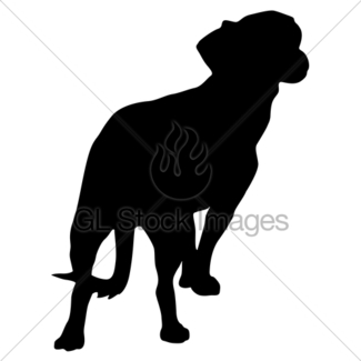 325x325 Airedale Terrier Dog Silhouette On A White Background Gl Stock
